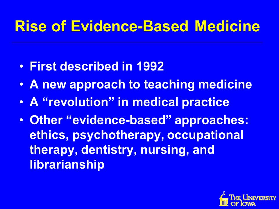 Rise of Evidence-Based Medicine