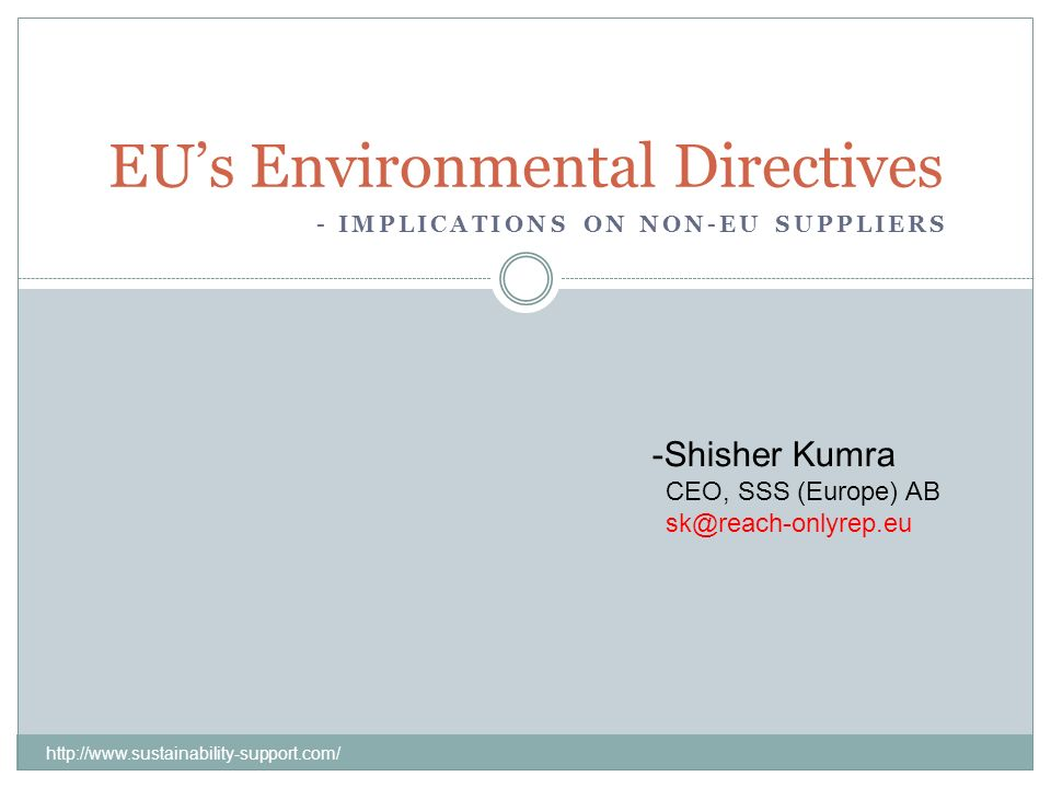 EU's Environmental Directives