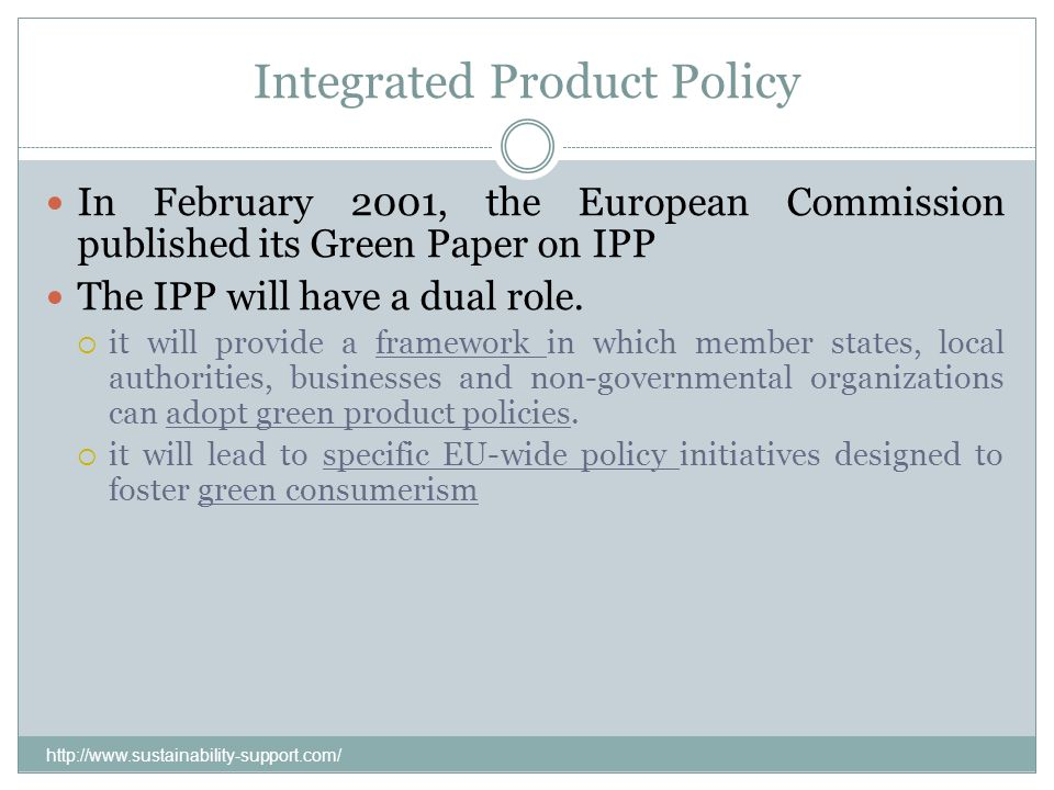 Integrated Product Policy