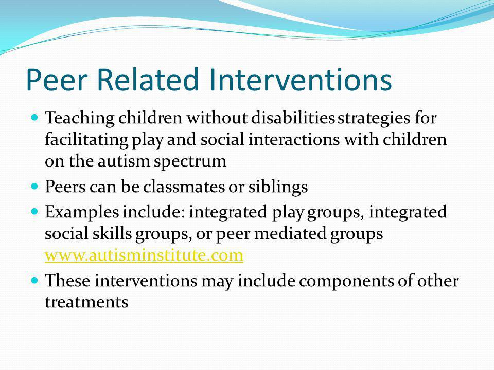 Peer Related Interventions
