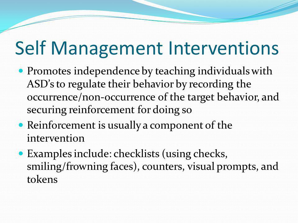 Self Management Interventions