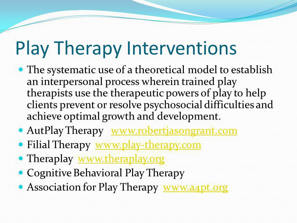 Play Therapy Interventions