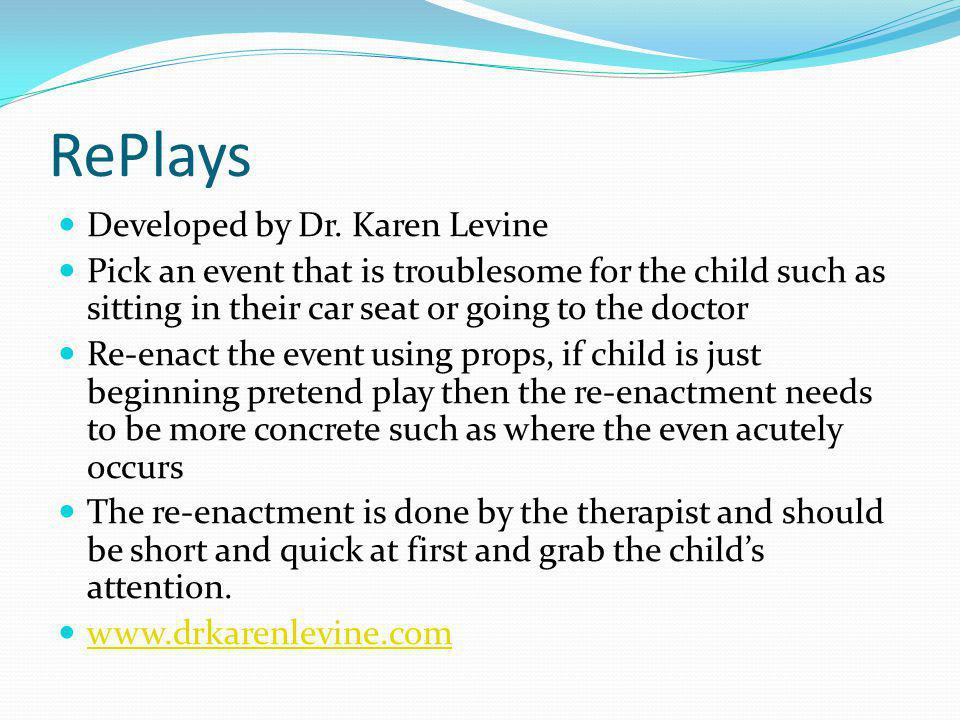 RePlays Developed by Dr. Karen Levine