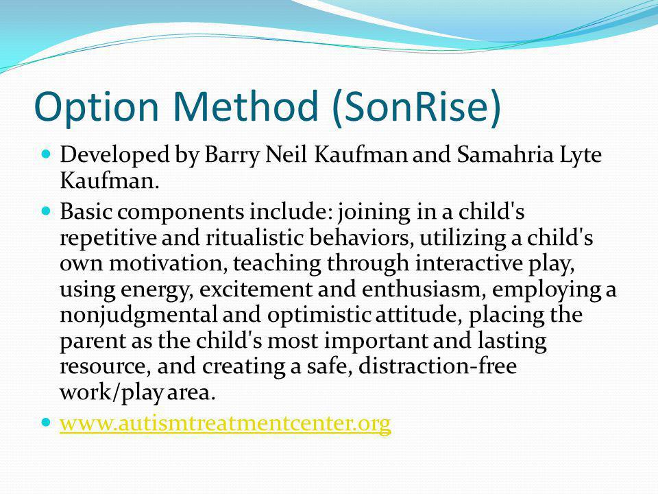 Option Method (SonRise)