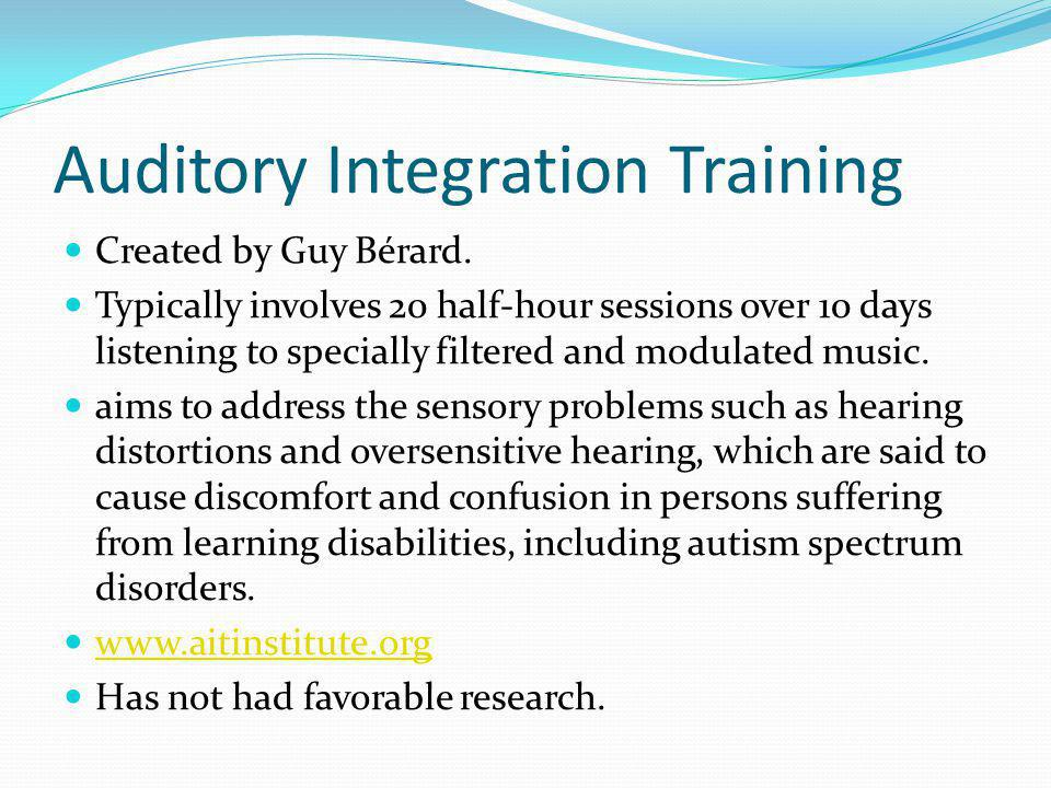 Auditory Integration Training