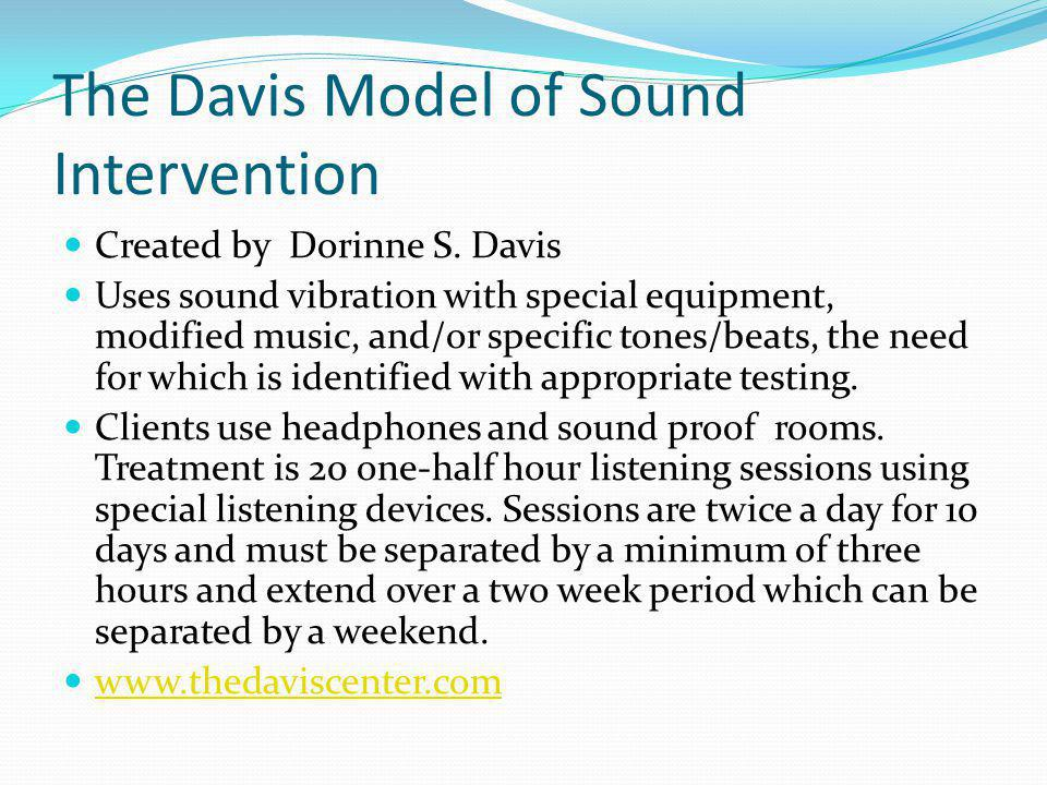The Davis Model of Sound Intervention