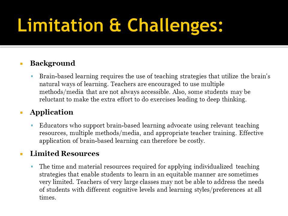 Limitation & Challenges: