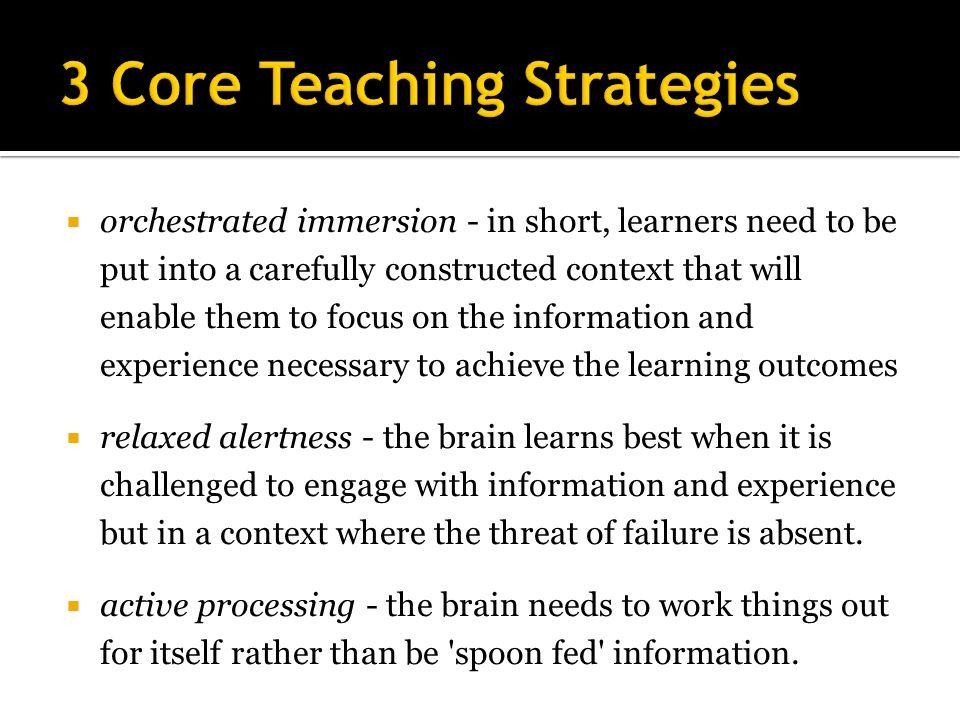 3 Core Teaching Strategies