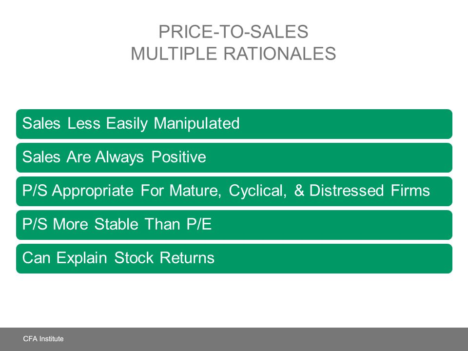 Price-to-Sales Multiple Rationales