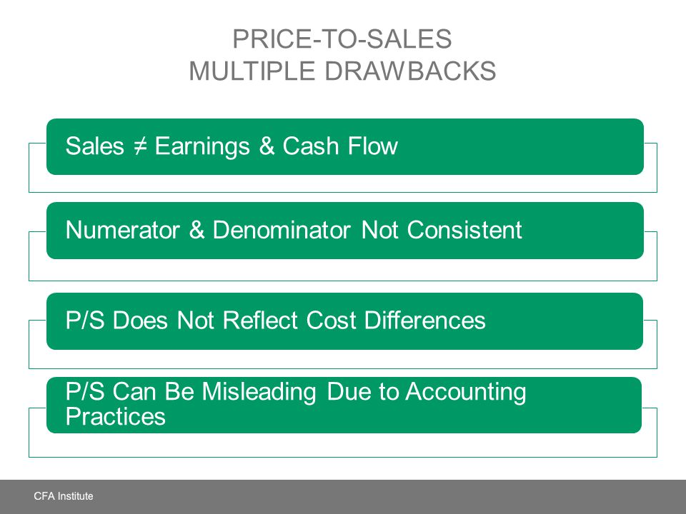 Price-to-Sales Multiple Drawbacks