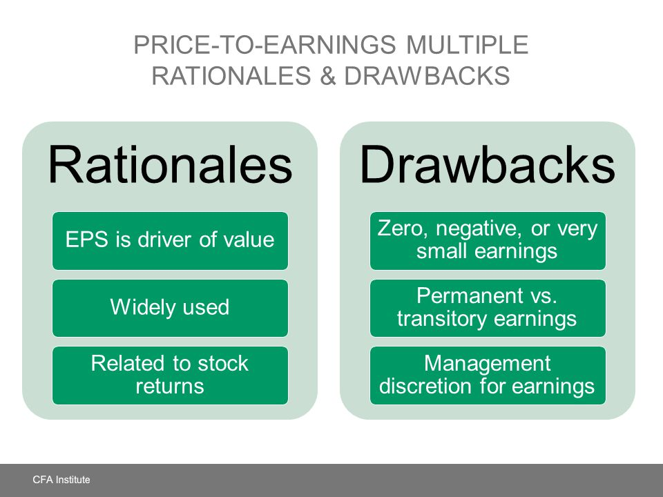 Price-to-Earnings Multiple Rationales & Drawbacks