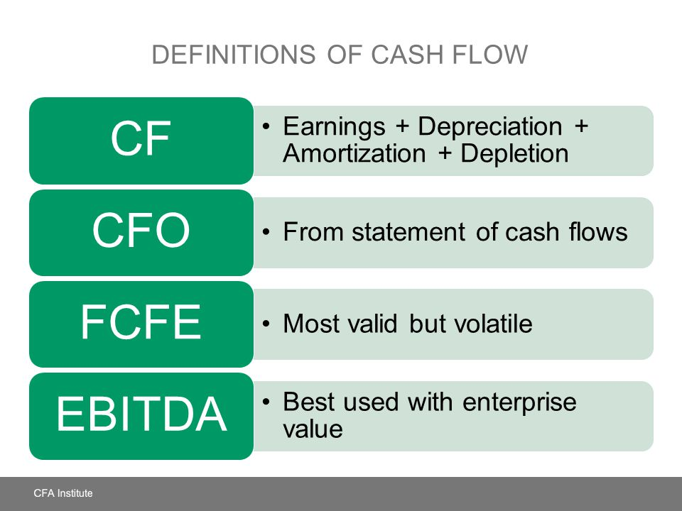 Definitions of Cash Flow