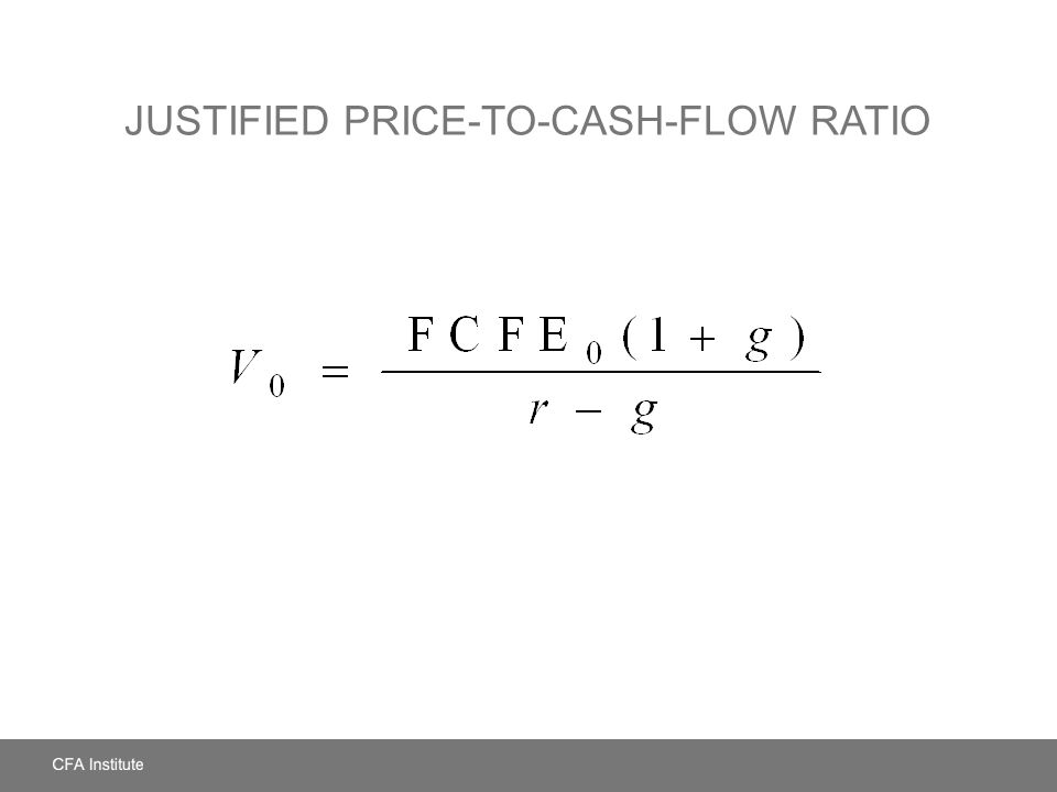 Justified Price-to-Cash-Flow Ratio