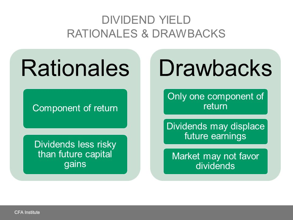 Dividend Yield Rationales & Drawbacks