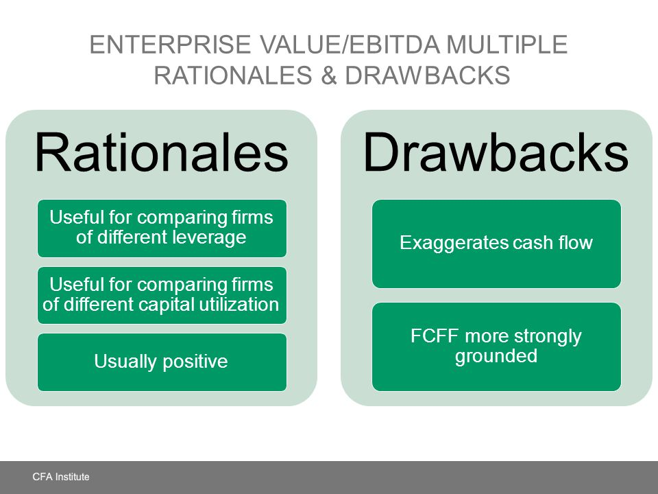 Enterprise Value/EBITDA Multiple Rationales & Drawbacks