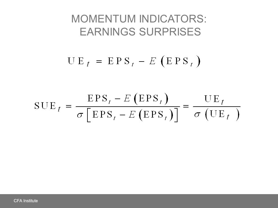 Momentum Indicators: Earnings Surprises