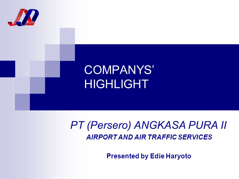 AIRPORT AND AIR TRAFFIC SERVICES Presented by Edie Haryoto