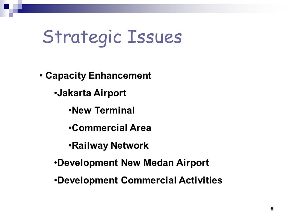 Strategic Issues Capacity Enhancement Jakarta Airport New Terminal
