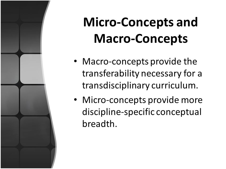 Micro-Concepts and Macro-Concepts