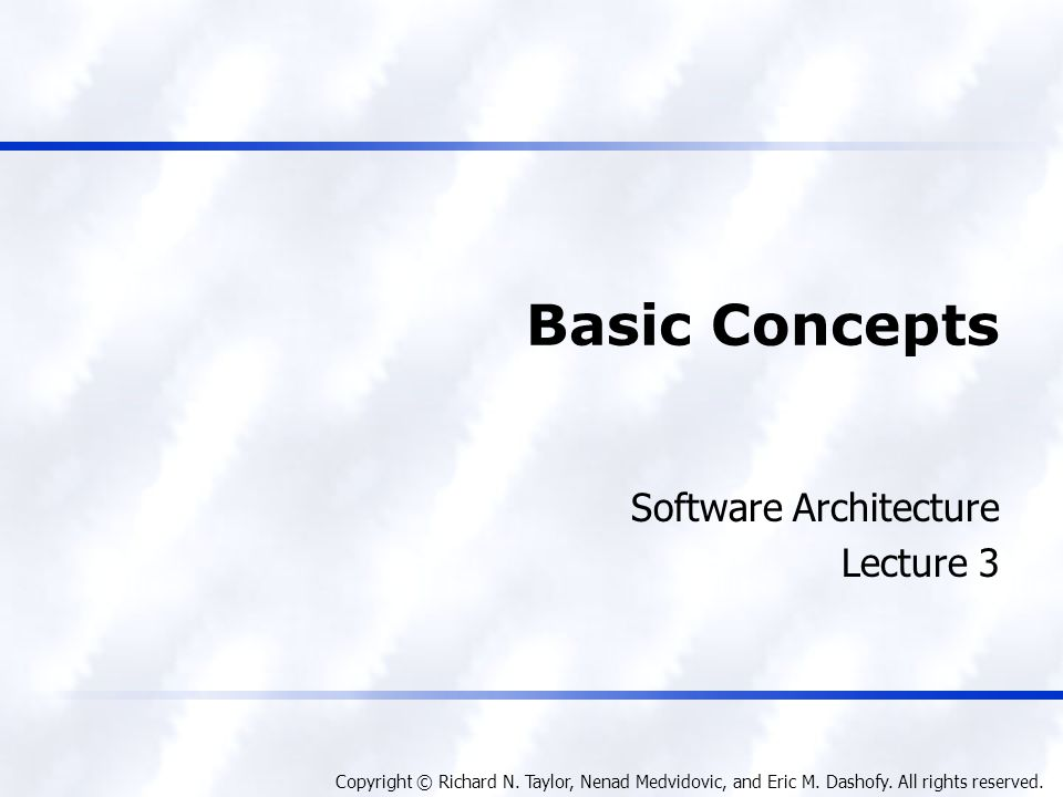 Software Architecture Lecture 3