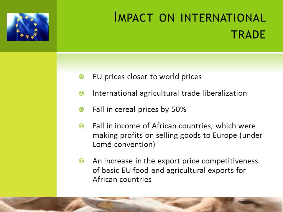 Impact on international trade