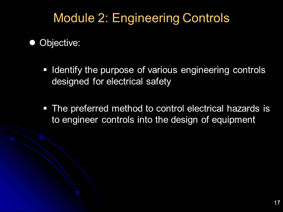 Module 2: Engineering Controls