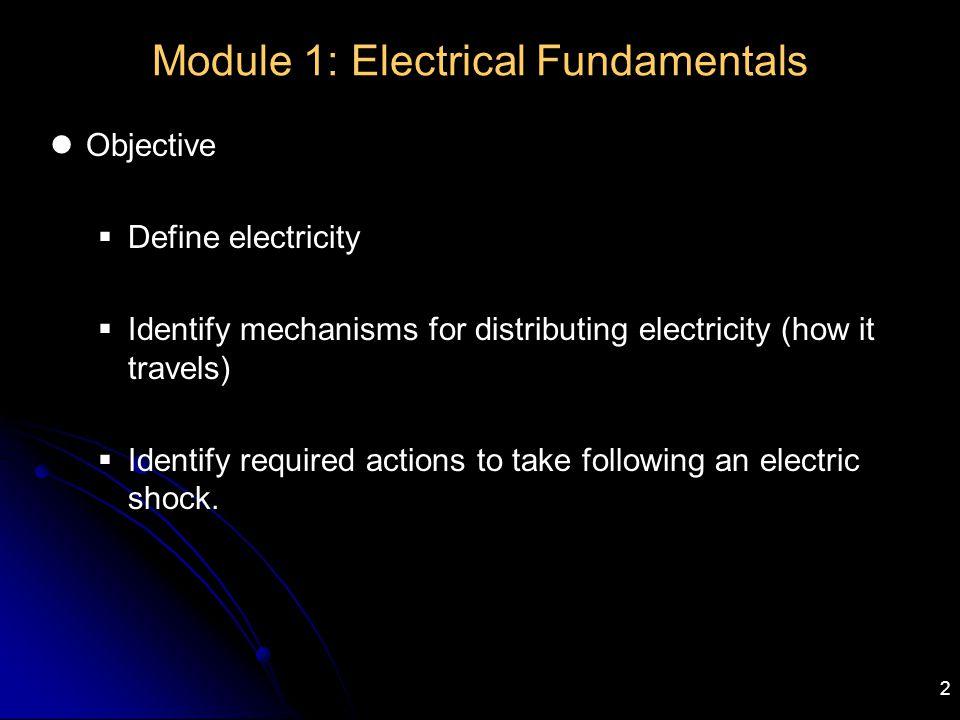 Module 1: Electrical Fundamentals