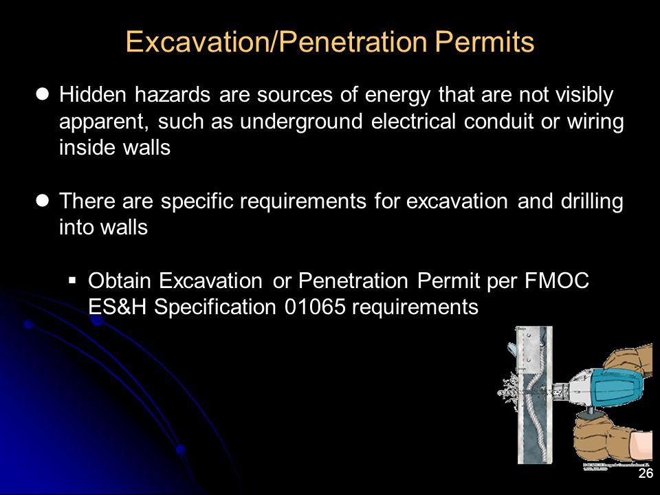 Excavation/Penetration Permits