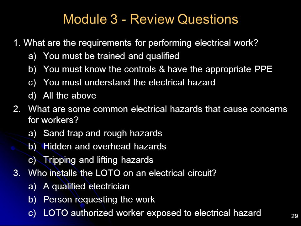 Module 3 - Review Questions