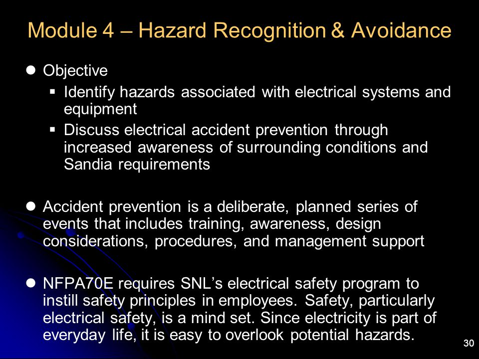 Module 4 – Hazard Recognition & Avoidance