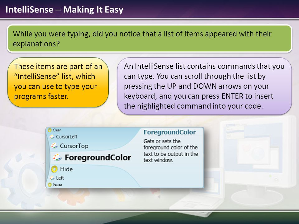 IntelliSense  Making It Easy