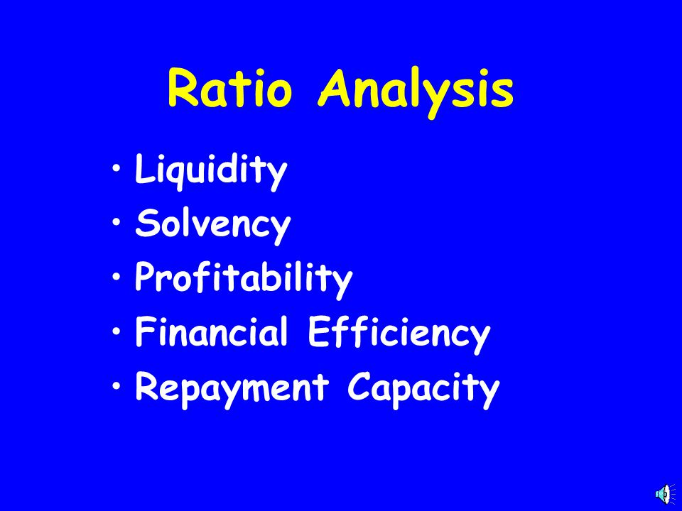 Ratio Analysis Liquidity Solvency Profitability Financial Efficiency