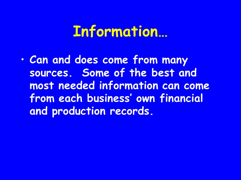 Information…