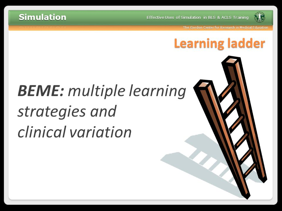 BEME: multiple learning strategies and clinical variation