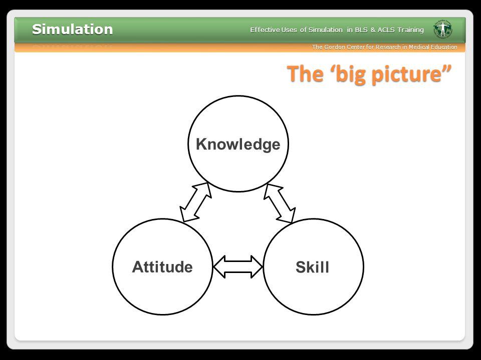 The 'big picture Knowledge Attitude Skill