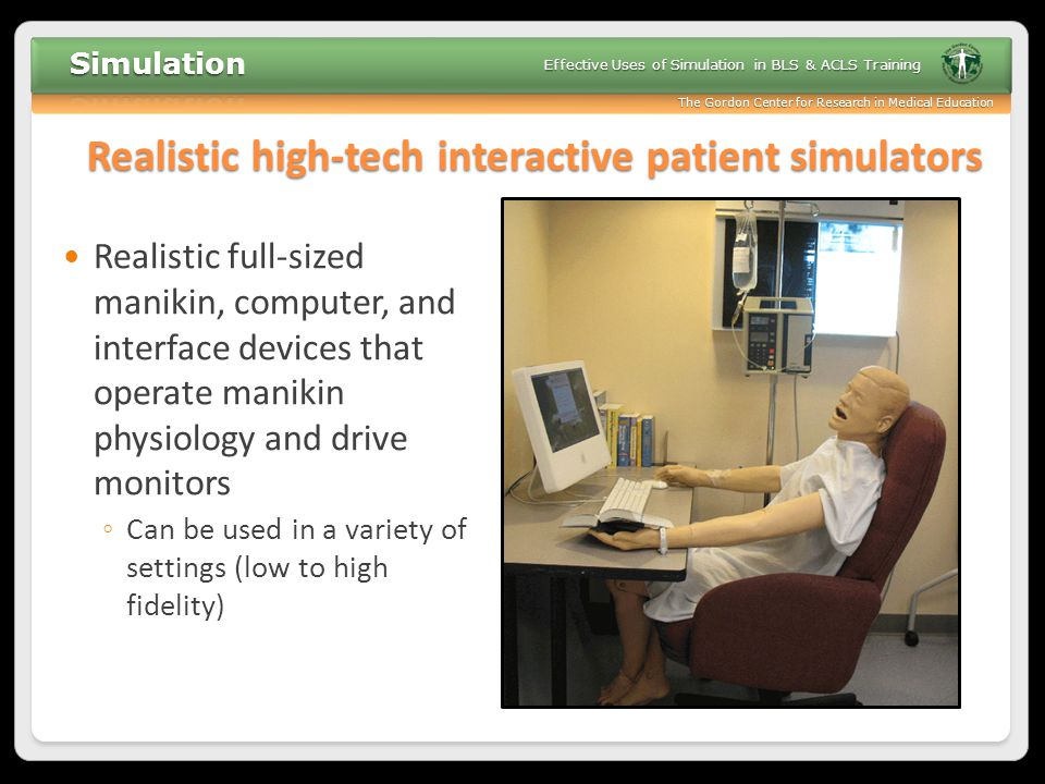 Realistic high-tech interactive patient simulators