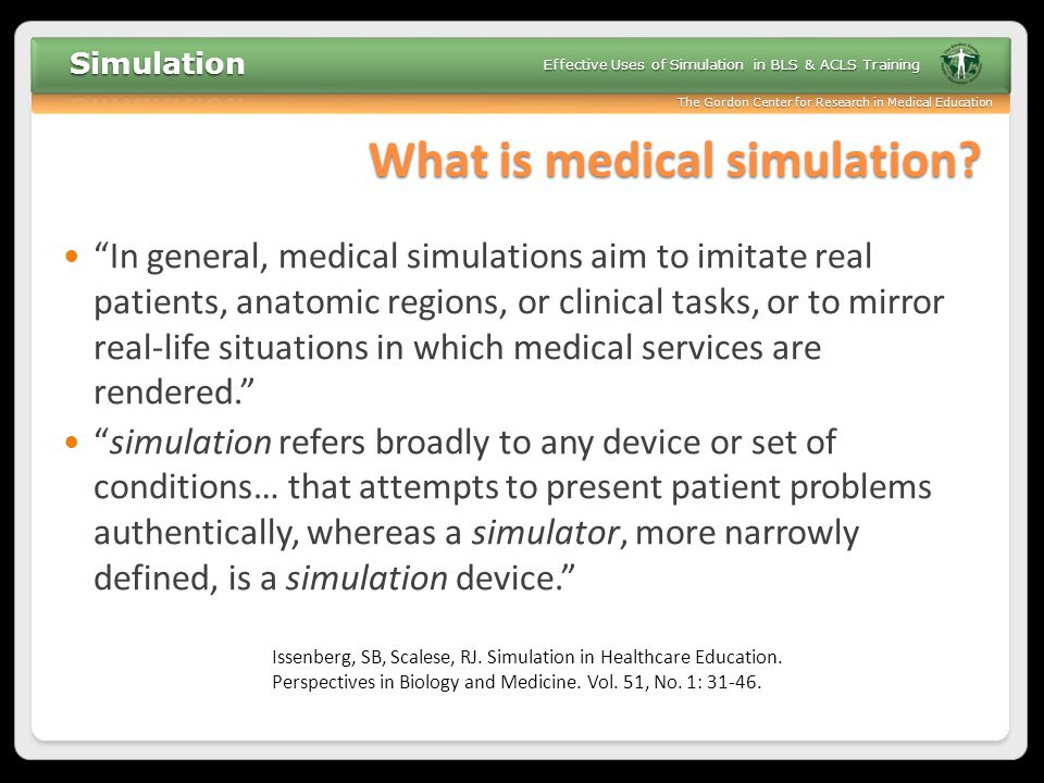 What is medical simulation