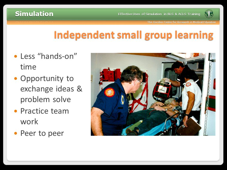 Independent small group learning