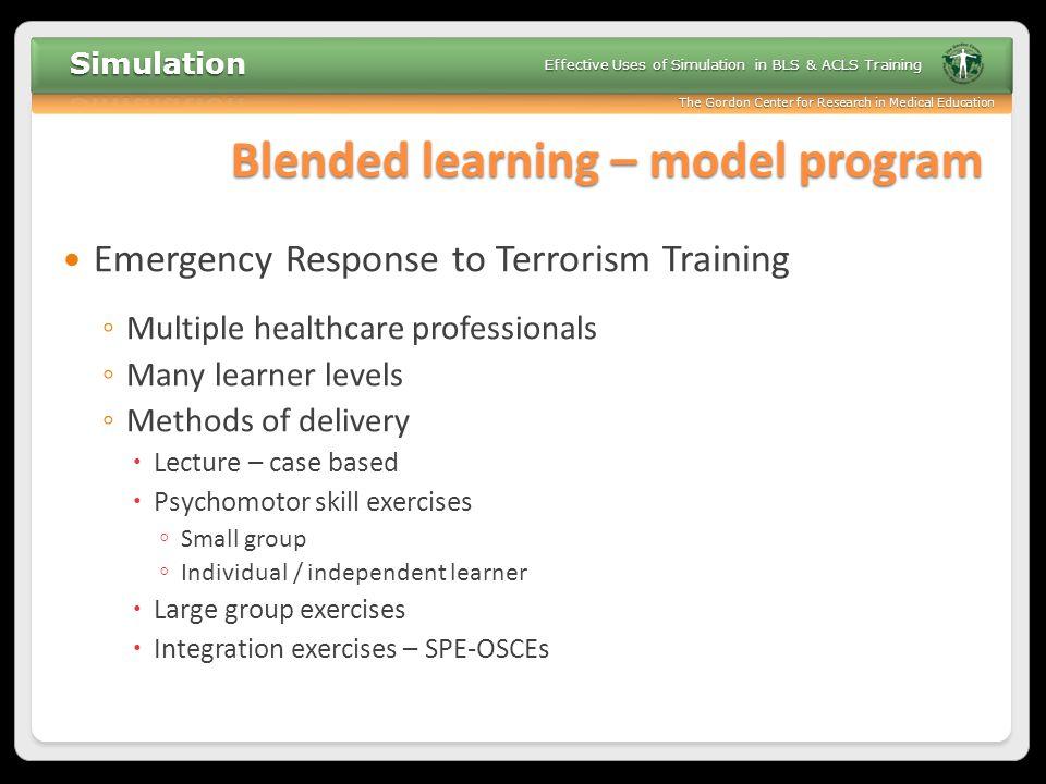 Blended learning – model program