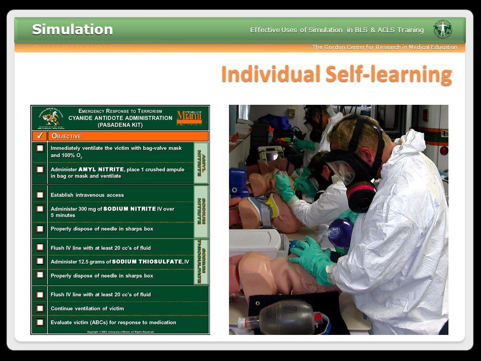 Individual Self-learning