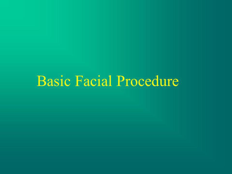 Basic Facial Procedure