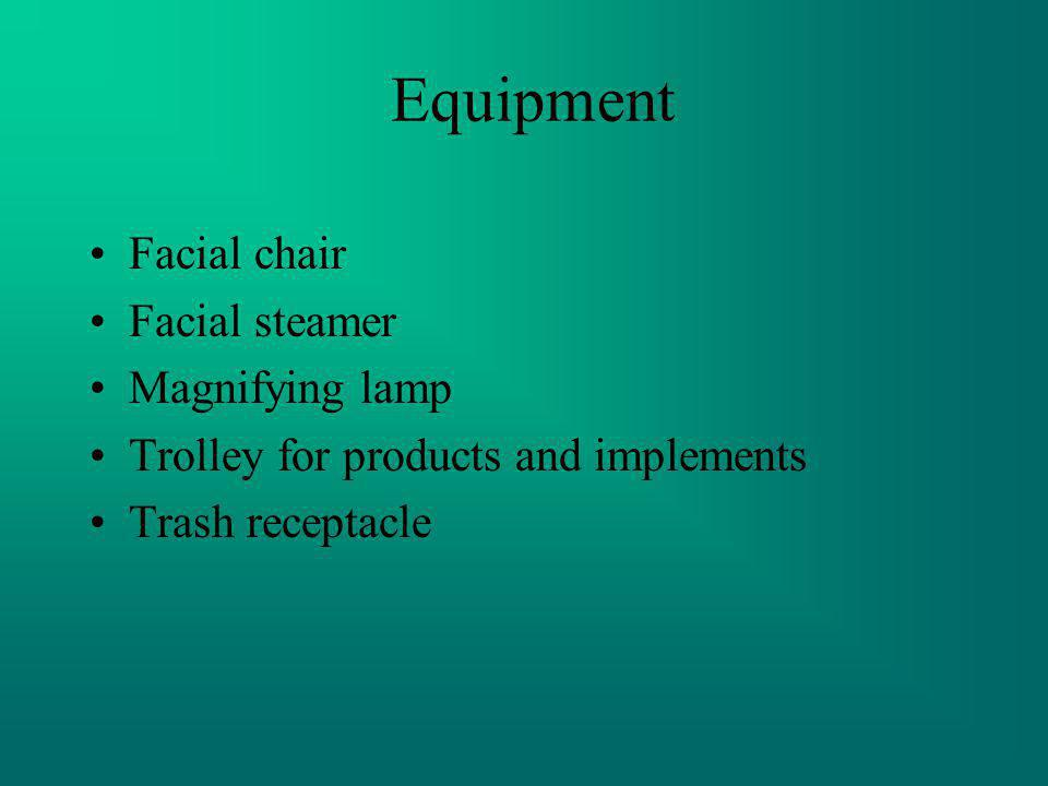 Equipment Facial chair Facial steamer Magnifying lamp