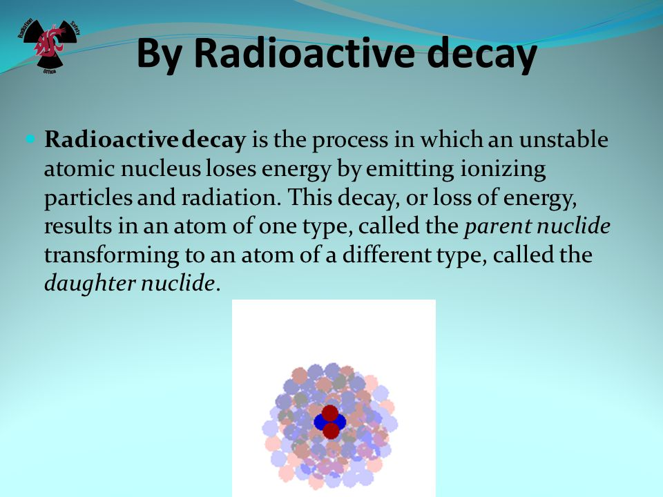 By Radioactive decay