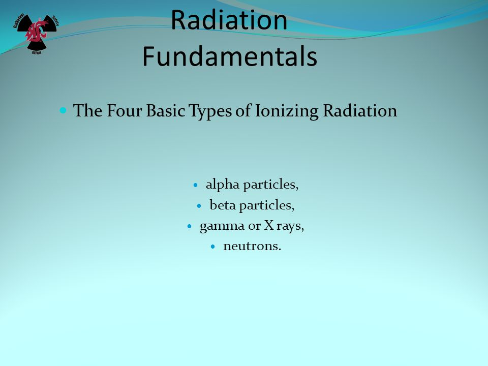 Radiation Fundamentals
