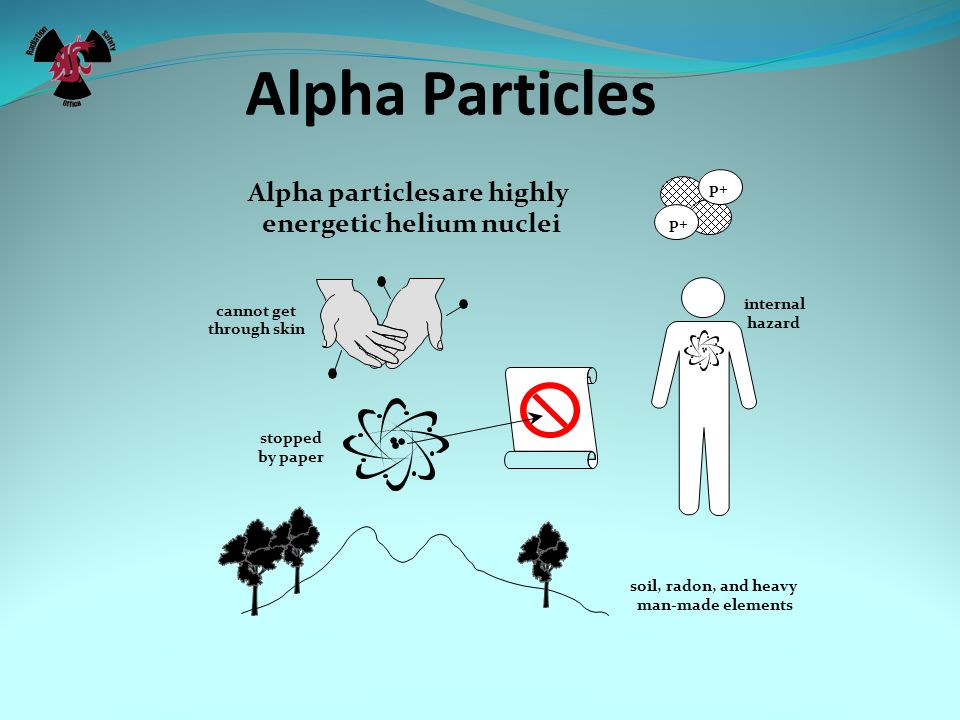 Alpha Particles Alpha particles are highly energetic helium nuclei p+