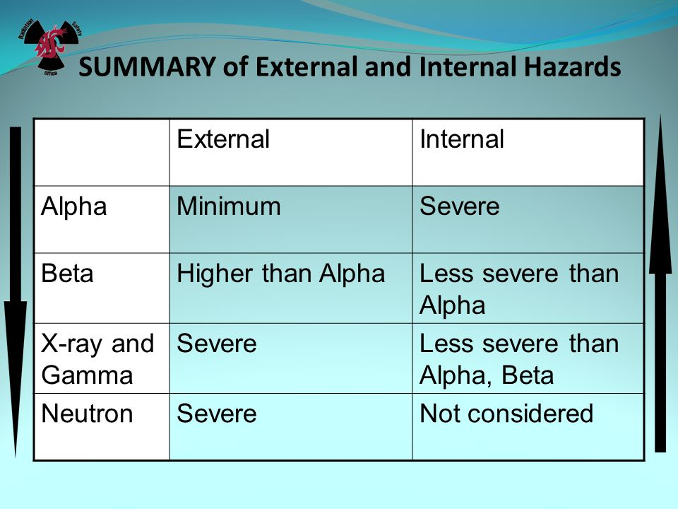 SUMMARY of External and Internal Hazards