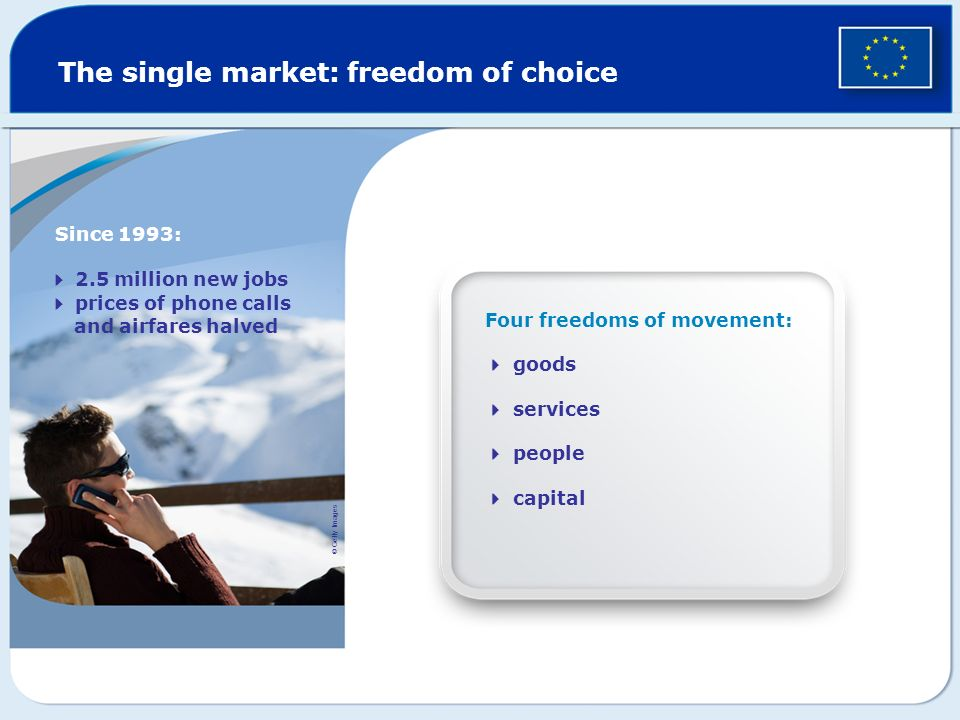 The single market: freedom of choice