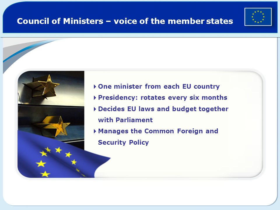 Council of Ministers – voice of the member states