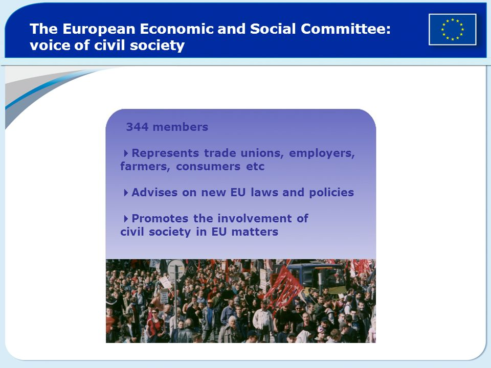 The European Economic and Social Committee: voice of civil society