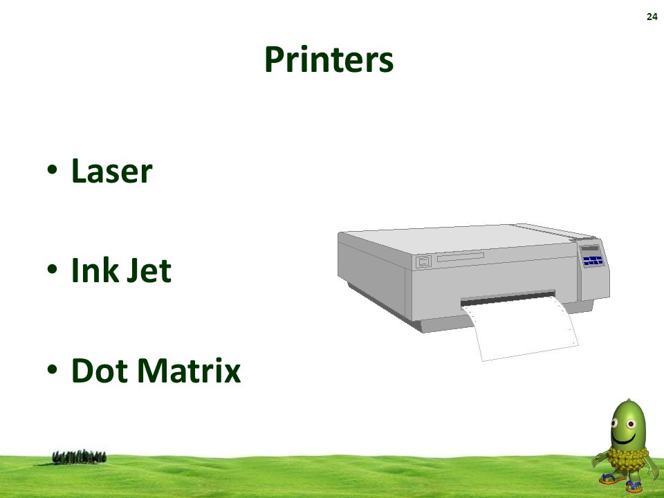 Printers Laser Ink Jet Dot Matrix 32 32